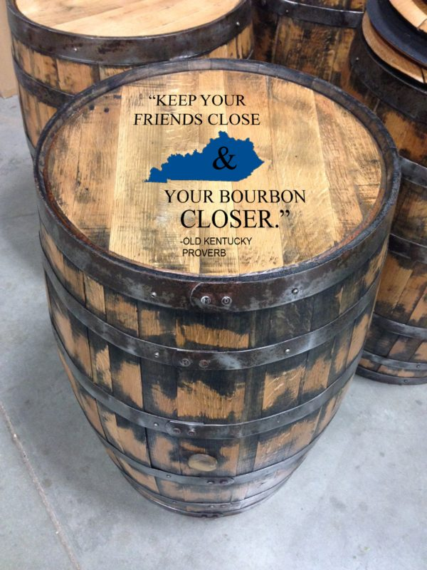 kentucky proverb bourbon barrel