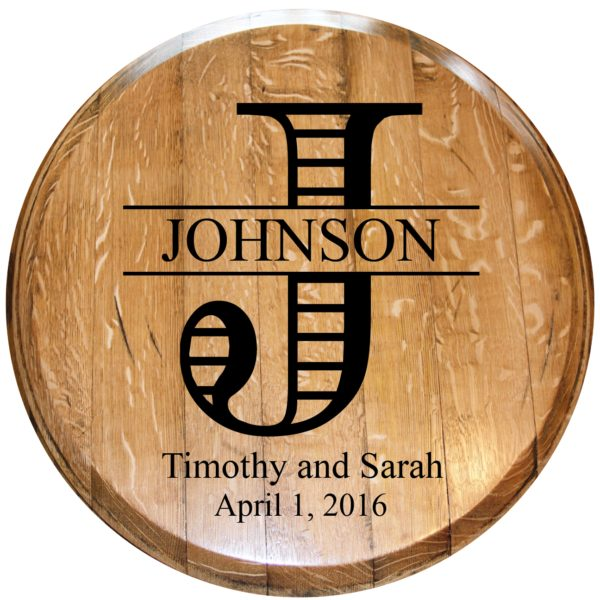custom wedding barrel head 2