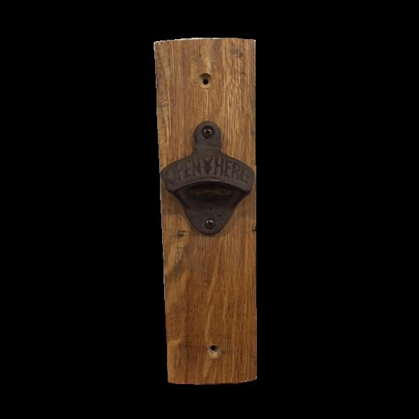 bourbon barrel bottle opener