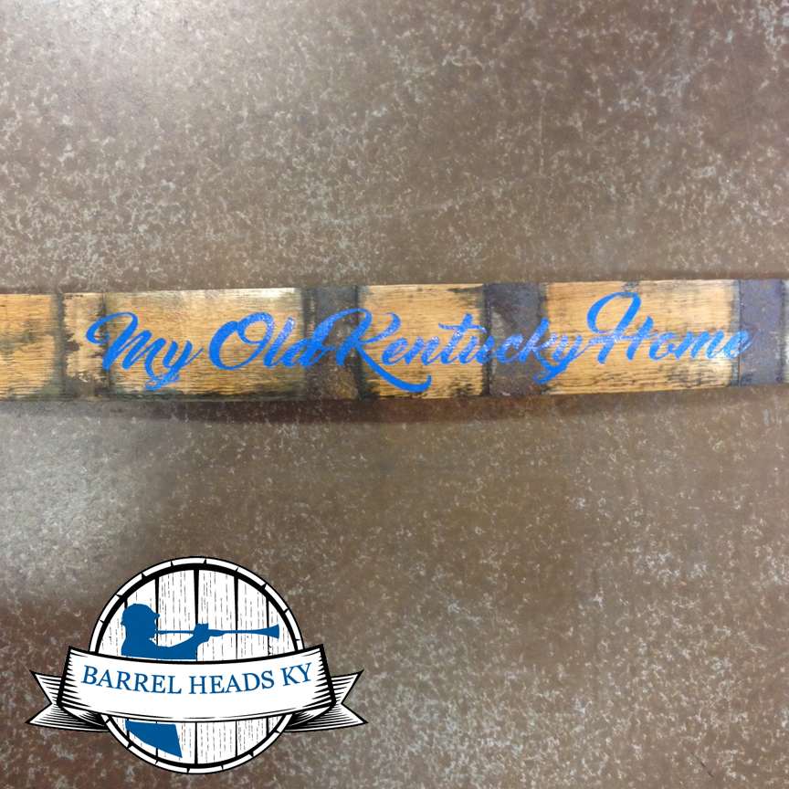 my old kentucky home barrel stave blue