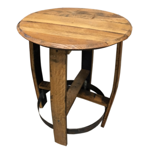 bourbon barrel side table