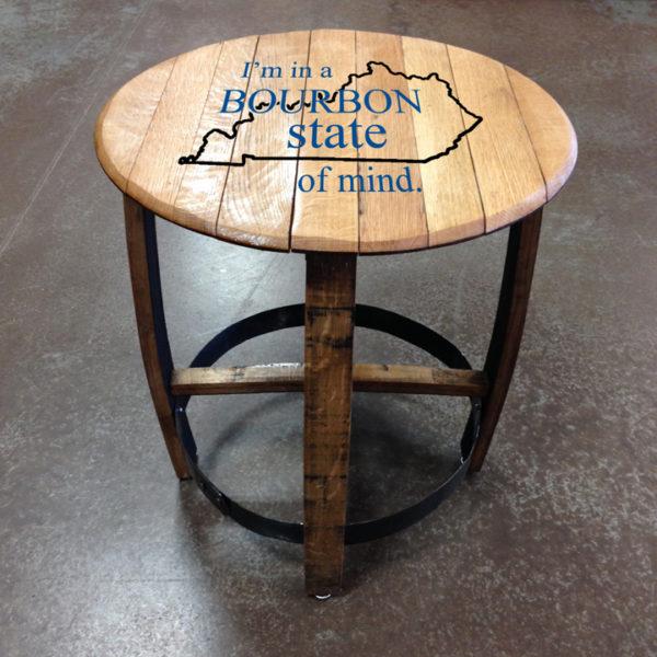 bourbon state of mind barrel side table