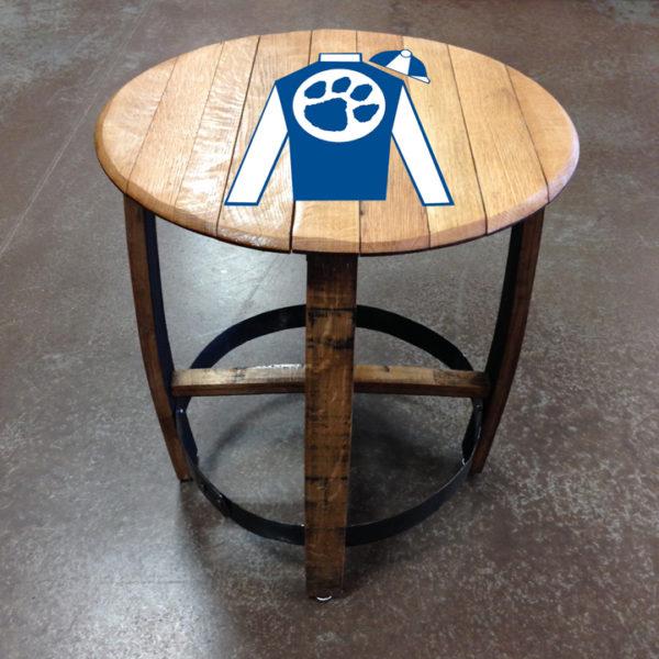 cat silks barrel side table