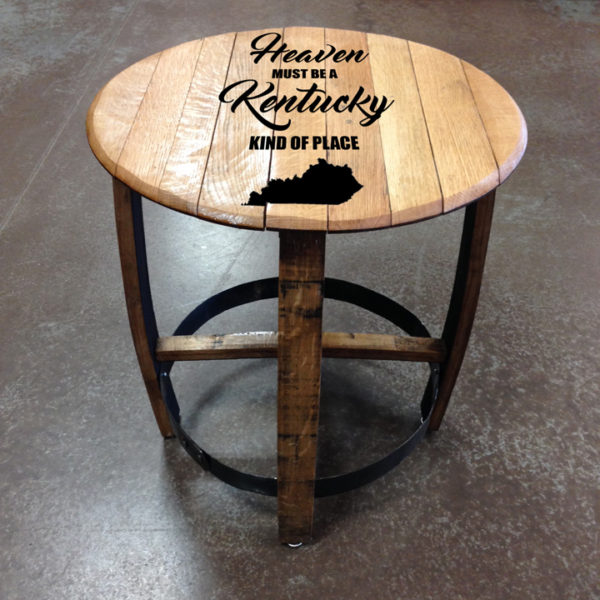 kentucky heaven barrel side table