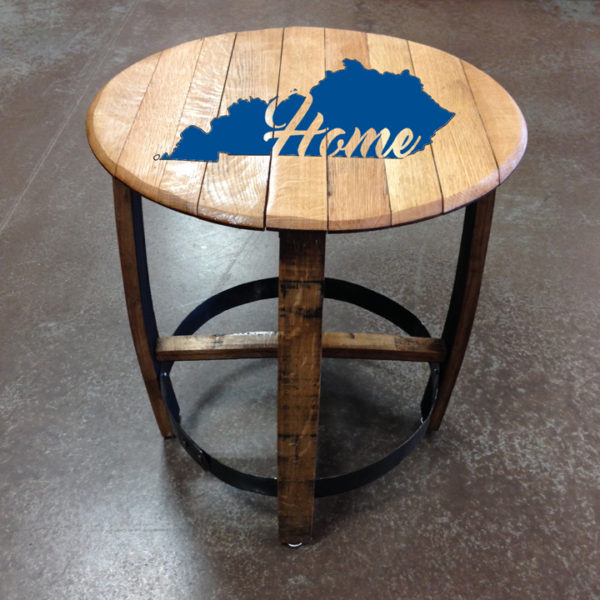 kentucky home barrel side table