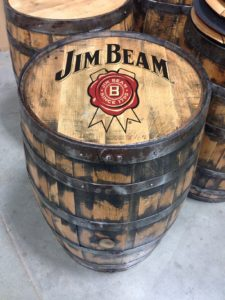 jim beam bourbon full size barrel