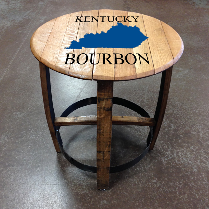 Exceptionnel Kentucky Bourbon Barrel Side Table