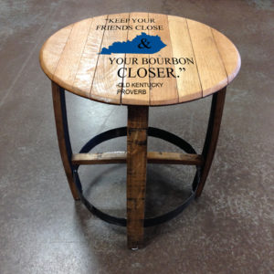 kentucky proverb barrel side table