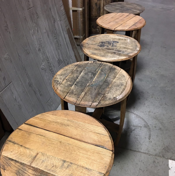 line of side tables