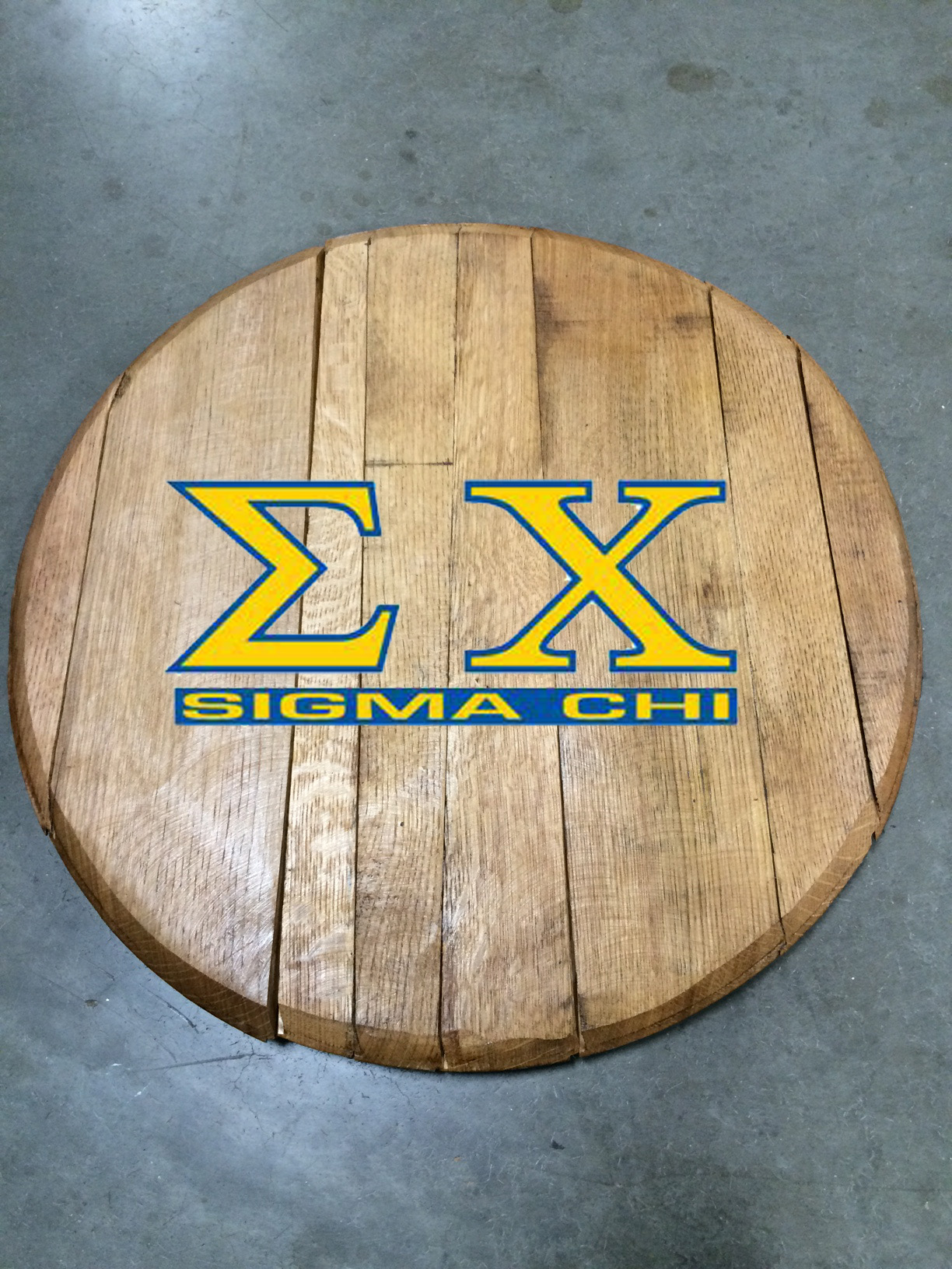 Sigma Chi Fraternity Barrel Head