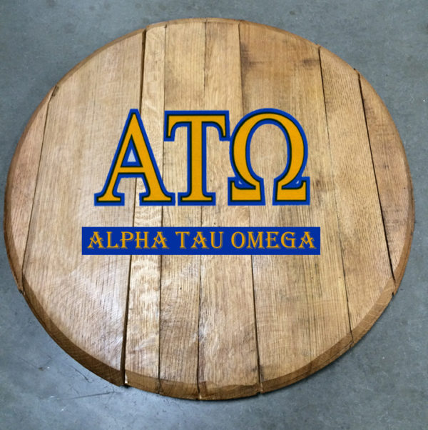 Alpha Tau Omega Fraternity Barrel Head