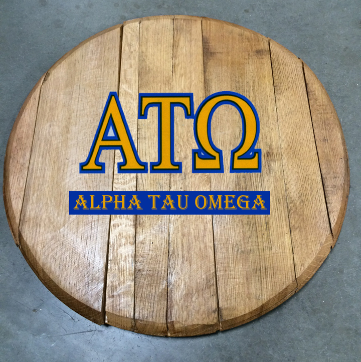 Alpha Tau Omega Fraternity Barrel Head