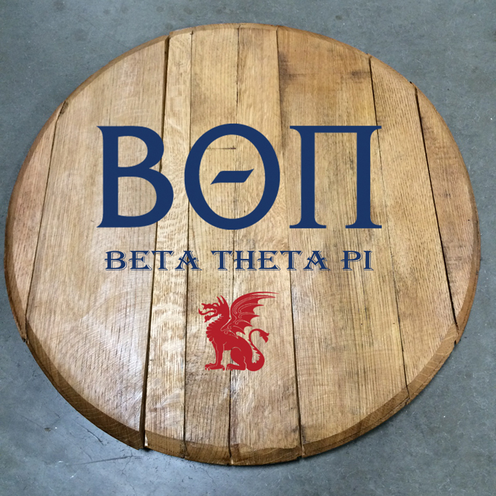 Beta Theta Pi Fraternity Barrel Head
