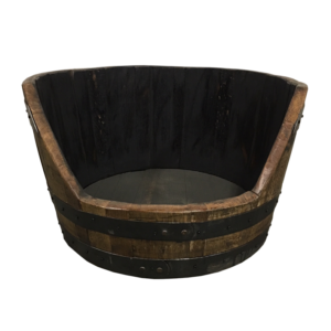 bourbon barrel dog bed
