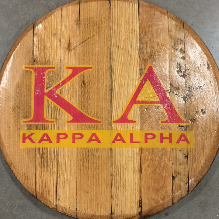 Kappa Alpha Fraternity Barrel Head