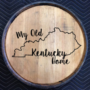 my old kentucky home quarter barrel head