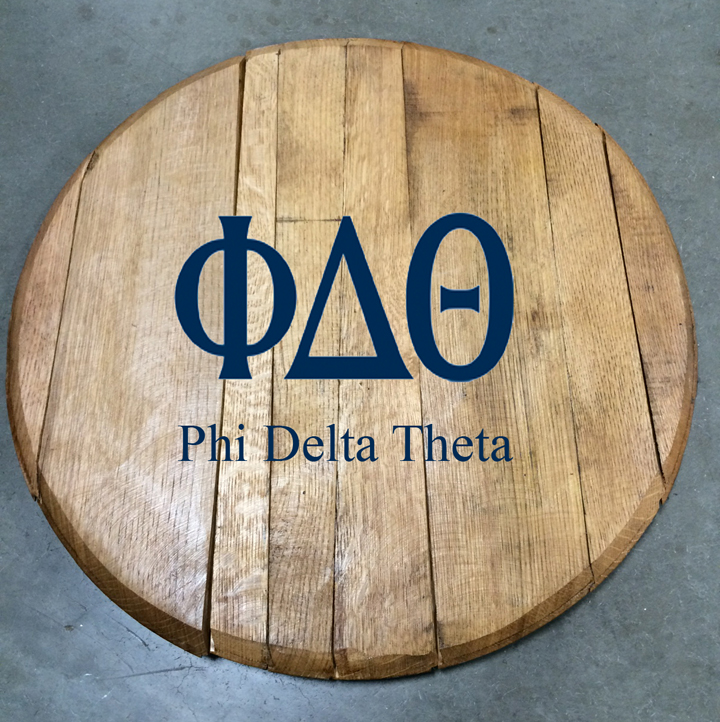 phi delta theta fraternity barrel head