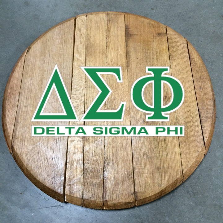 delta sigma phi fraternity barrel head
