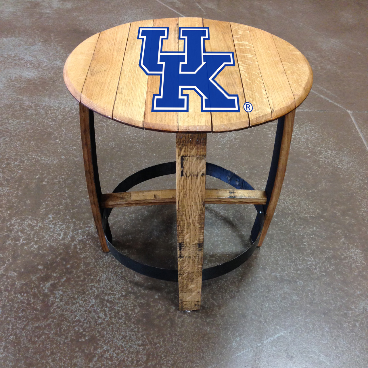 university of kentucky barrel side table