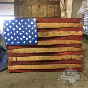 barrel stave american flag