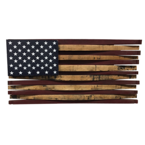 bourbon barrel stave american flag