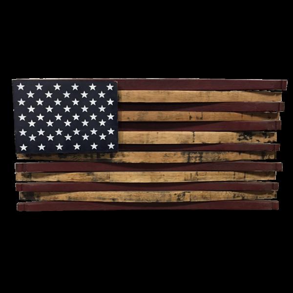 bourbon barrel stave american flag