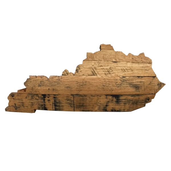 Bourbon Barrel Kentucky State Outline