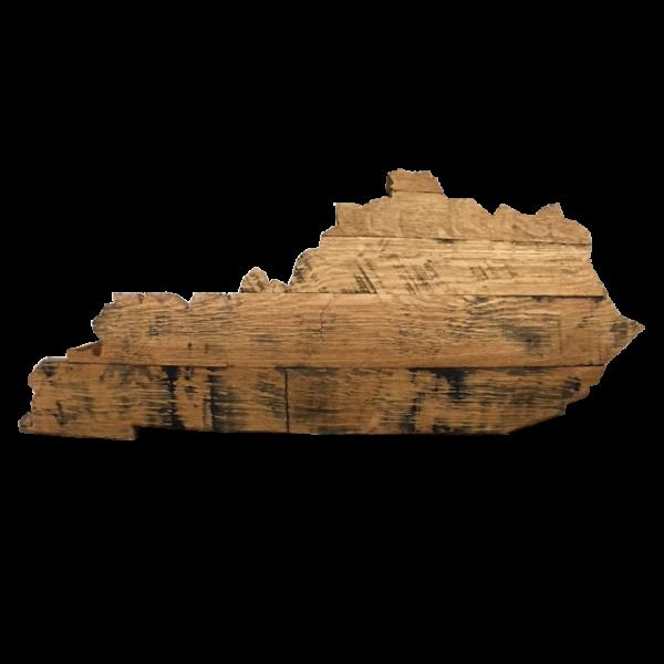 Bourbon Barrel Kentucky State Outline