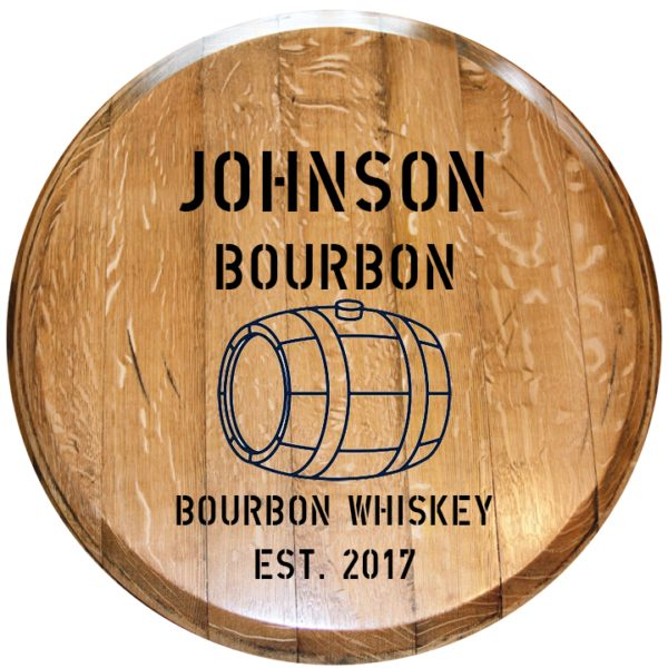 custom bourbon barrel head design 4