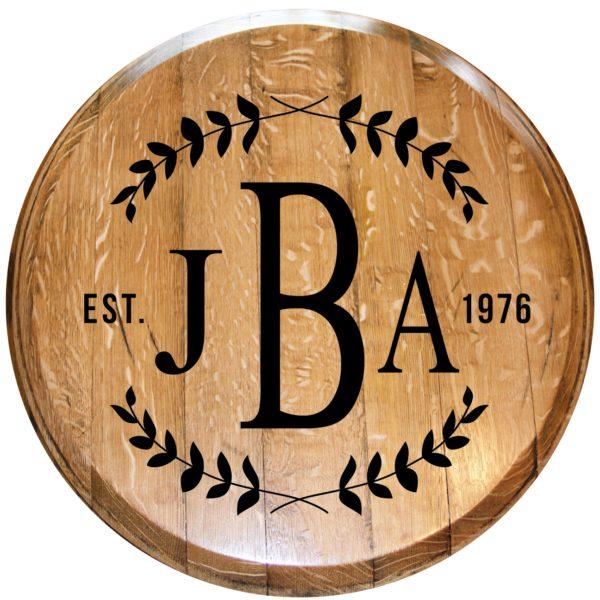 custom initials barrel head