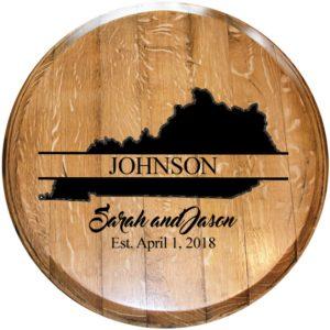 custom wedding bourbon barrel
