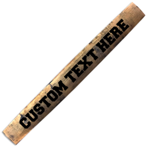 custom bourbon barrel stave