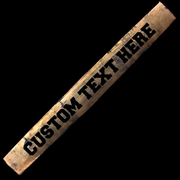 custom bourbon barrel stave